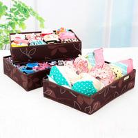 3pcs/set Folding 7/12/24 Grid Storage Box Bra Underwear Socks Clothing Sorting Box Without Cover High Quality