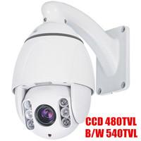 "1/3 SONY CCD Color 480TVL,10X optical zoom,High Speed Mini PTZ Camera,4.5"" Outdoor IR mini high speed dome camera,IR 60M"