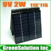 2PCS X 9V 2W 220mA Mini Plycrystalline Silicon Solar Battery Panel Charge for Small Solar Power Kits DIY Education Study