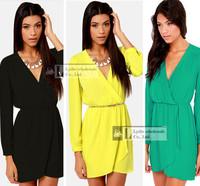 New! Summer tropical Women casual dress Ladies Sexy Chiffon Slim Cut V-Neck party dresses women vestidos de fiesta plus size