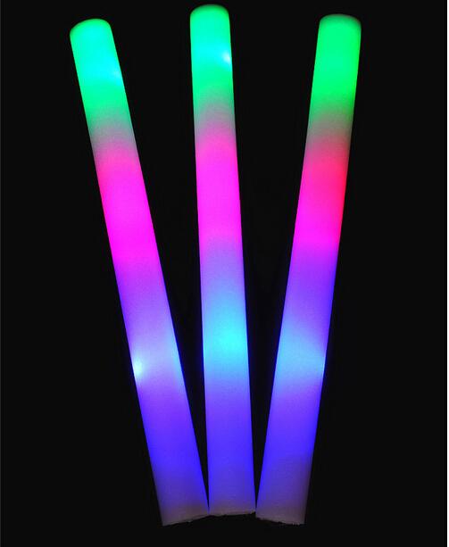 100pcs/ lot Free Shipping Colourful Led Foam Stick Flashing Glow Sticks Wholesale Price-in Event(China (Mainland))