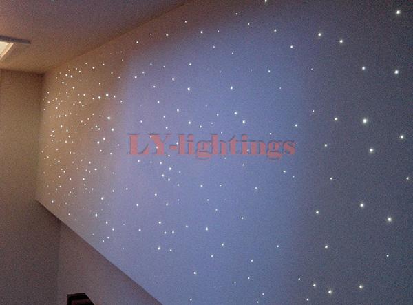DIY optic fiber light kit led light +optical fibres RGB festive decoration color change star wireless remote room ceiling light(China (Mainland))