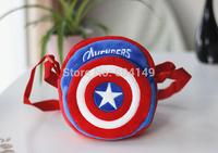 Captain America Children Messenger Bags Shoulder Bag Plush Boy Girl Cartoon Animal Schoolbag