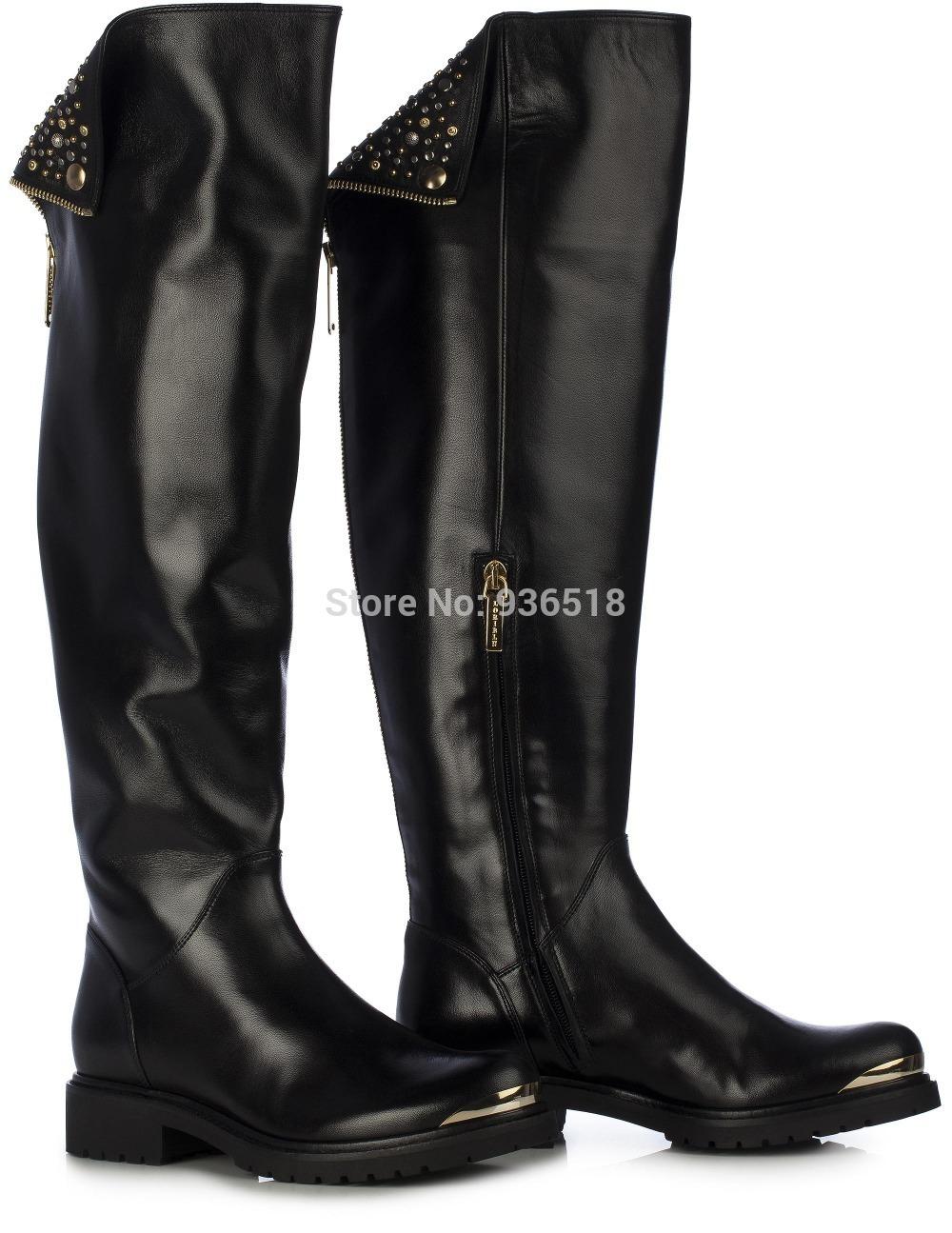 boots Genou noir haute ugg bottes