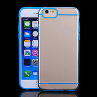 "Clear mobile phone skin tpu + plastic back cover case for iphone 6 4.7""dual color 10 pcs/ lot wholessale"