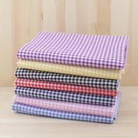 7pcs Lattice 100% Cotton Patchwork Fabric for DIY Sewing Quilting Tissue extiles Tilda Doll Cloth Fabric 50*50cm Quarters