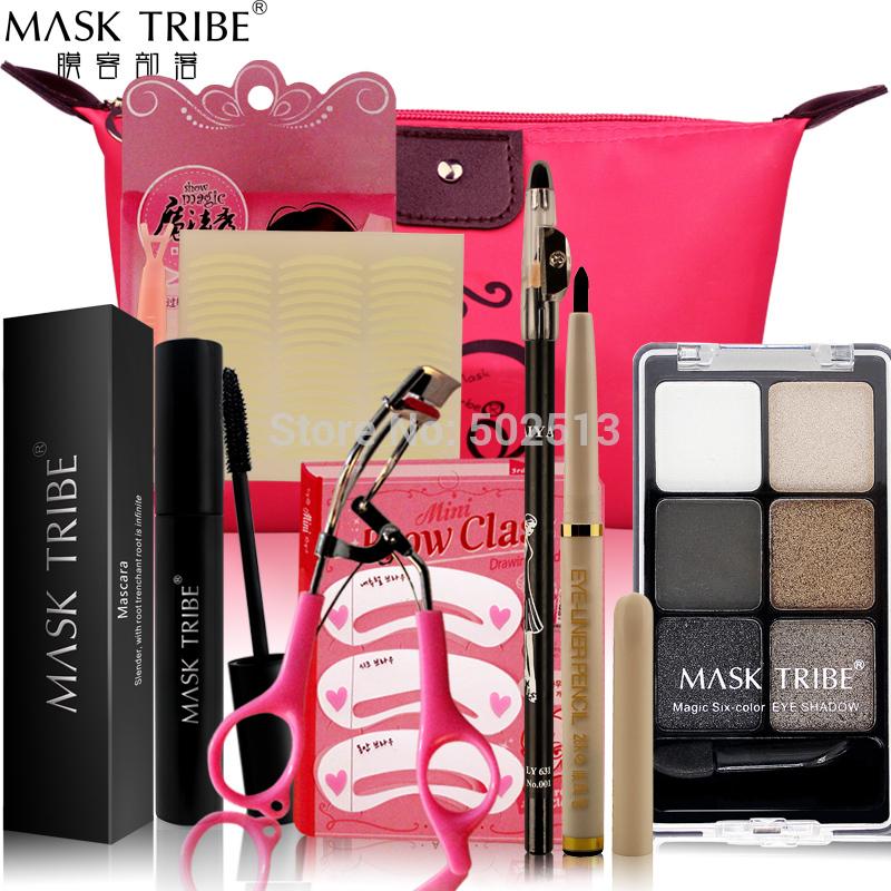Makeup Sets Lipstick Eye Mask Mascara Naked Palette Eyeliner Eye Shadow Fashion Make Up Full Set(China (Mainland))