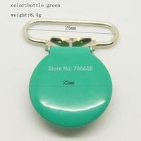 200pcs/lot,round top clip in bottle breen color 25mm ribbon size wholesale Suspender Clip,Suspender Clips Suppliers&Manufacturer