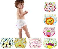 1 pcs/lot 2014 NEW ! Baby Washable Diapers/Children Reusable Underwear/100% Cotton Breathable Diaper Cover/Training PantsXIA0094