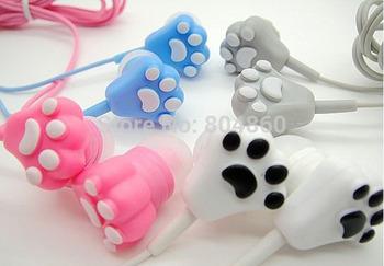 А кошачий коготь сотовых телефонов наушники мультфильм наушники для iPhone 6 5S 5 Samsung Galaxy s4 s5 аниме наушники xiaomi