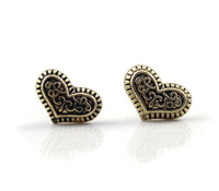 Retro Heart Small Studs Earrings Cheap Brincos For Women Wholesale Dropship