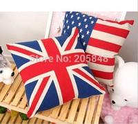 45*45cm Luxury linen Flag Linen Cushion Cover For Sofa Chair Car Cushion Throw Pillow Cover Pillowcase Home Decorative