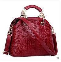 HOT 2015 New Fashion Women bags Quality Japanned Leather For Crocodile Women Handbag Shoulder Bag Women Messenger Bag Tote