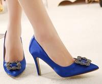 fashion rhinestone female sexy high heels 2015 spring autumn ladies wedding shoes woman pointed toe pumps women shoes GD141672
