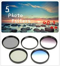 40.5mm 5 Photo Filter Kits  UV CPL ND4 Grad Color Filter  Lens for Canon EOS 100D 450D 500D 600D 1100D 1200D Camera Lens