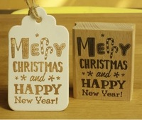 free ship. merry christmas and happy new year  rubber stamp for blessing greeting card 6*5cm