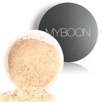 Myboon Bare Minerals Facial Compact Skin Make up Loose Mineral Powder Sponge Puff 18g New