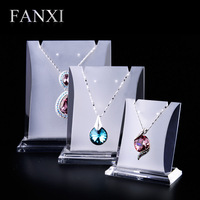 Acrylic jewellery display stand shooting jewelry necklace holder 3 pcs a set pendant display holder