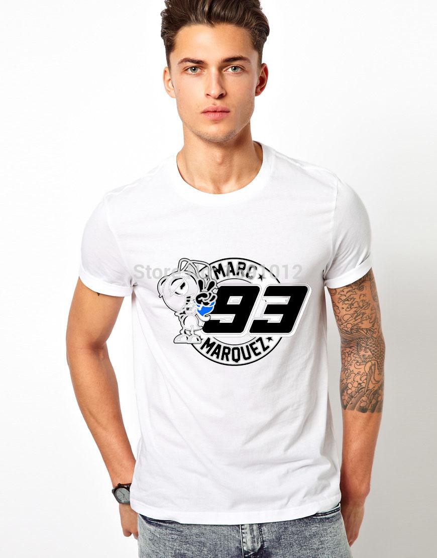 Hot Sale ! MARC HONDA MARQUEZ T Shirt Custom Men's Design Cotton T-shirts Personalized Tee Company/Club T Shirts(China (Mainland))