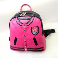 Winter Spring new design fashion imitation clothes backpack shoulder bag rivet women lady girl backpacks fresh style