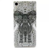 High Quality Painted Cute Cartoon Print TPU IMD Soft Cover Flower Owl Elephant Case For SONY Xperia Z3 L55 ,200PCS DHL free
