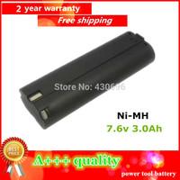 Ni-MH  7.6v 3.0Ah Replacement  for MAKITA  191681-2 192533-0 632007-4 9000 9001 9002 96 power tool battery  ,