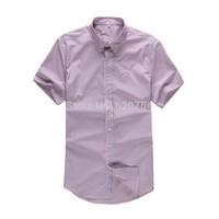 Fashion new 2015 top short sleeve men's Casual shirts brand Turn-down collar striped shirts men and boy #7072