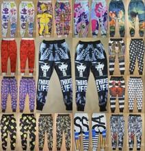 Wholesale USA style mens long jogger pants 3d tupac/simpson/jordan/rose/biggie/retro/spiderman print boys skinny run sweatpant (China (Mainland))