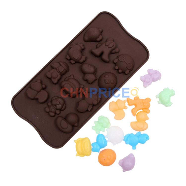 Adorável Silicone Baking moldes para Chocolates e bolo Fondant Baking decoração 12 esquilo forma cavalo marinho moldes grátis frete(China (Mainland))