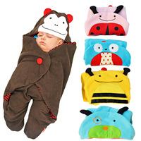 Free shipping baby sleep sack autumn Brand new born baby blankets baby sleeping bag cartoon sleepsacks baby sleepwear 4 colors