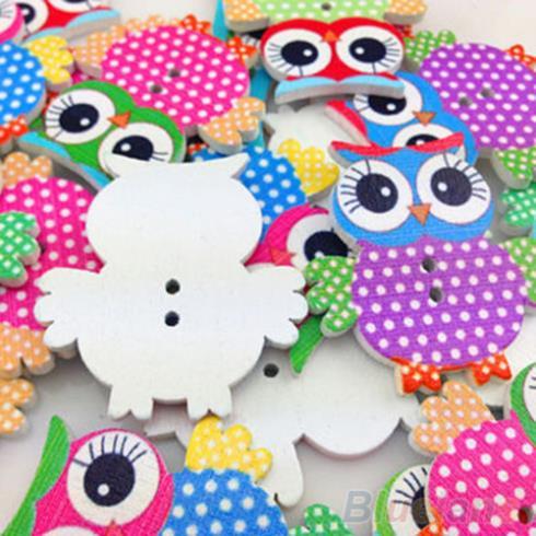 Botões de madeira de pad