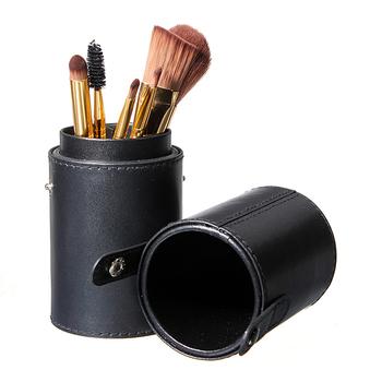 1 шт. путешествия черная кожа кисть пустой держатель макияж художник Bag поставил ...