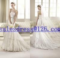 Vestido de noiva 2015 Mermaid Wedding Dresses Lace Appliqued Luxury Wedding Dress 2015 vestidos casamento