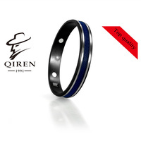 best quality stainless steel famous design  fashion men jewelry bangle  angles cuff bracelets with rubber