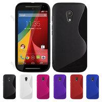 1000pcs/Lot TPU S  Line GEL Case Cover for  Motorola Moto G G2 2 Gen