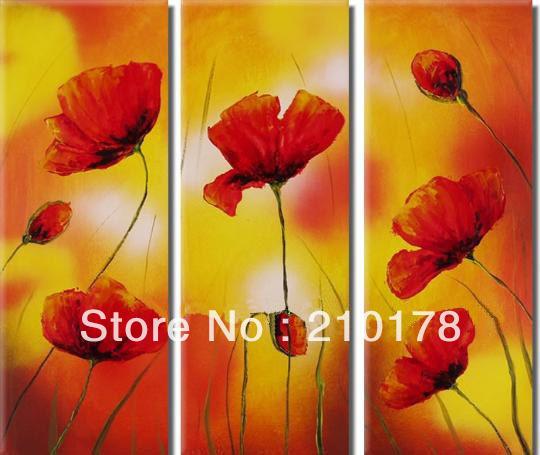 Grátis frete pintura a óleo handmade na lona moderna 100% melhor da arte da flor pintura a óleo original diretamente do artis FL3-166(China (Mainland))