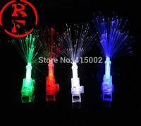 European and American popular fiber optic LED finger light laser light-emitting strange little toy