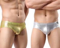 GOGOboy Silver Male sexy gold stage fun underwear men briefs pure M L XL 1pc