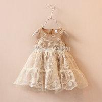 New 2015 girls cute dress kids clothes child spring summer sleeveless vest dress baby fashion lace princess dress high quality