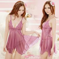 Sexy transparent skirt t ultra long purple free size for s m l xl women sex lingerie for adult chiffon sex sleepwear dress