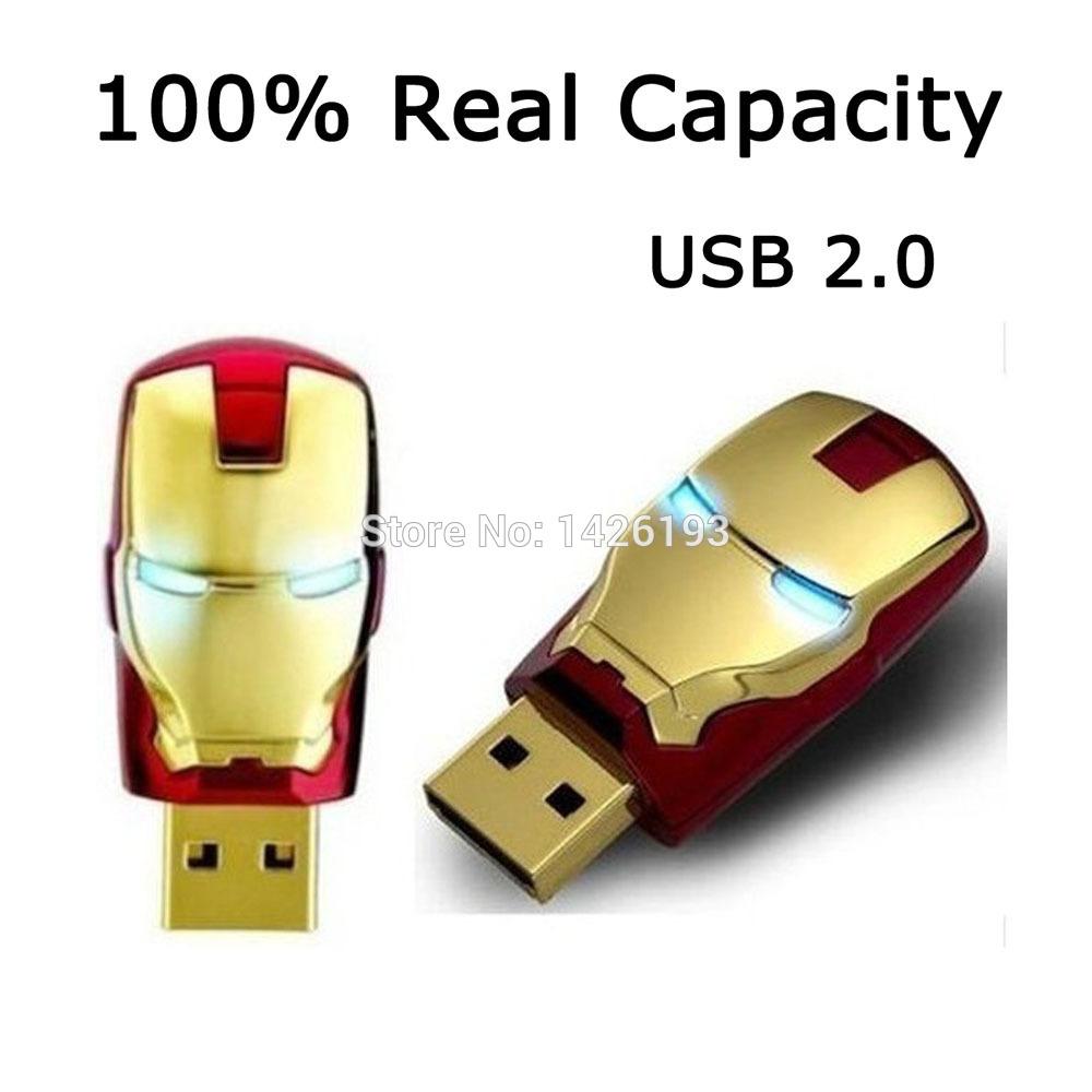 2015 Hot Sale Iron Man USB Flash Drive Pen Drive Crystal Diamond PenDrive 2GB 4GB 8GB 16GB 32GB 64GB USB 2.0 Free Shipping(China (Mainland))