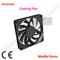12v 2 wires 80mm computer CPU cooler free shipping 10pcs/lot heatsink fan for PC notebook cooling controller laptop speed fan