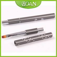 10 Boqian Metal Handle Nylon Hair Nail Brush Oval Nail Gel Art Brush 10pcs lot