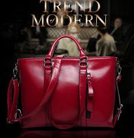 High Quality Hot 2014 Fashion Brand New Women Large Cowhide Leather Shoulder Bags Hand Messenger Bag Casual Handbag