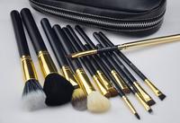 Brand Professional pincel maquiagem New Pink MC Makeup Brush 12 pcs Cosmetic Make Up brushes Set With 2 Case Bag Kit, 1 set/lot