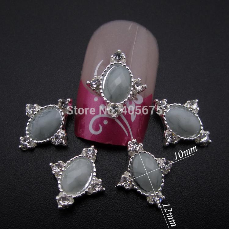 10pcs Gray gems nail stone 3D nail jewelry for nail art decoration scrapbooking tools DIY MNS817(China (Mainland))