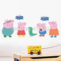 Details about Peppa Pig Wall Sticker Cartoon Art Mural Decals Baby Kids Nursery Decors #2