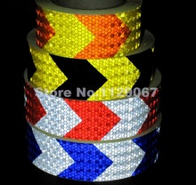 5cmx10m Reflective Tape Car Sicker Caution Tape Self-adhesive Arrow Head High Visibility 4 Colors For Choice  Freeshipping(China (Mainland))