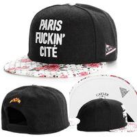 2015 new black floral brim adjustable brand baseball cap snapback hats for men/women fashion sports hip hop sun caps bone hat