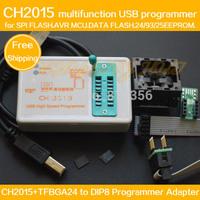 SPI FLASH  USB Programmer CH2015+TFBGA24 to DIP8 Adapter BGA24 6X8MM for FLASH 25Q64/25Q128  eeprom/AVR/DATA FALSH  Programmer